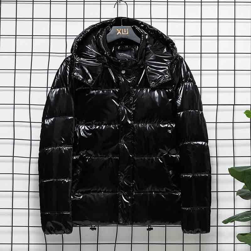 2020 Новые мужские зима с капюшоном пальто хлопка способа Mens Толстые Теплый вниз ватник Высокое качество Мужской ветровки 2 цвета Азиатский размер S-4XL