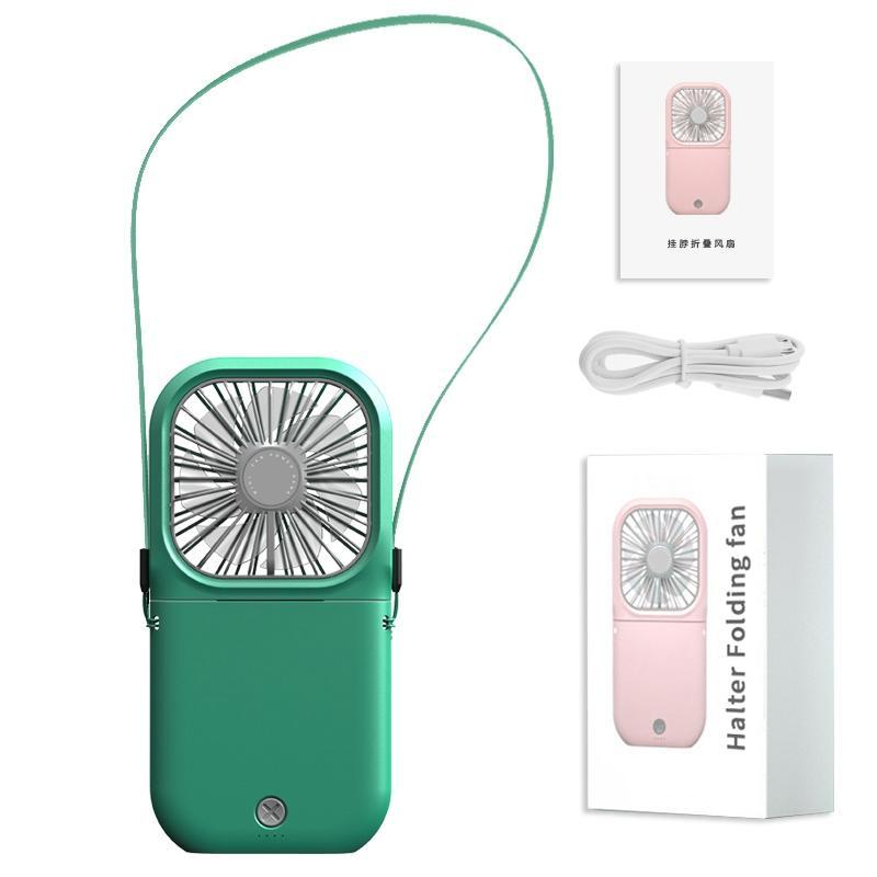Портативный вентилятор мини ожерелье Вентилятор USB перезаряжаемые портативный складные Личное охлаждение воздух Cooler 3 скорости Настройки