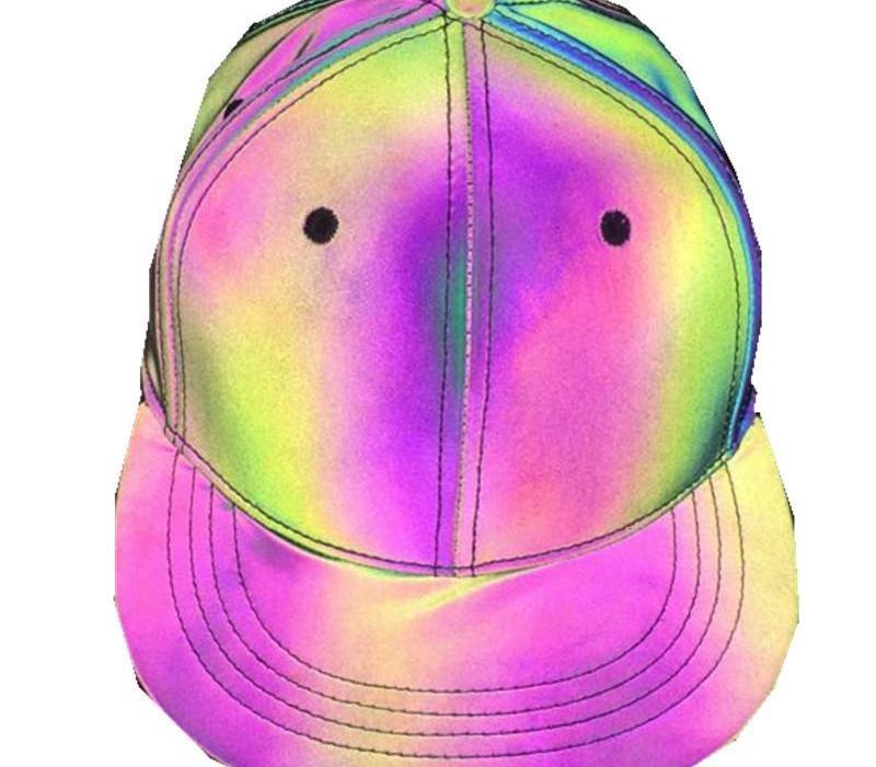Cap Dazzle colore riflettente Berretto da baseball casuale di sette colori luminoso piani degli uomini e il cappello di Sun Fantasia Donne