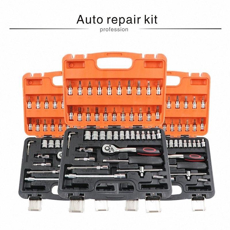 reparação automóvel conjunto de ferramentas ferramentas mecânicas caixa do lado tomada kit chave profissional com catraca auto kits Herramientas chaves de fenda 70WY #