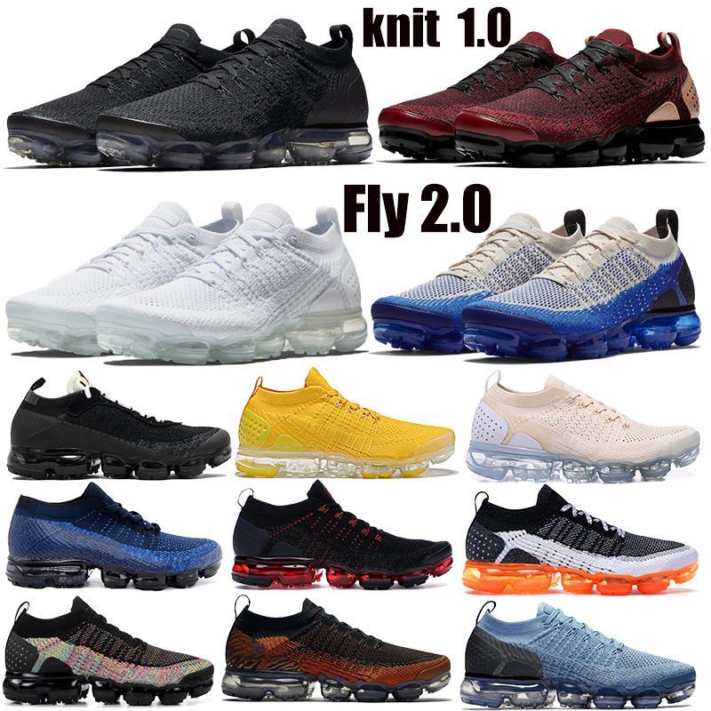 2019 Knite 2.0 1.0 Hommes Chaussures De Course CNY Tiger Team Rouge Obsidienne Triple Noir Blanc Thunder Grey Designer Sneaker Trainers 36-45