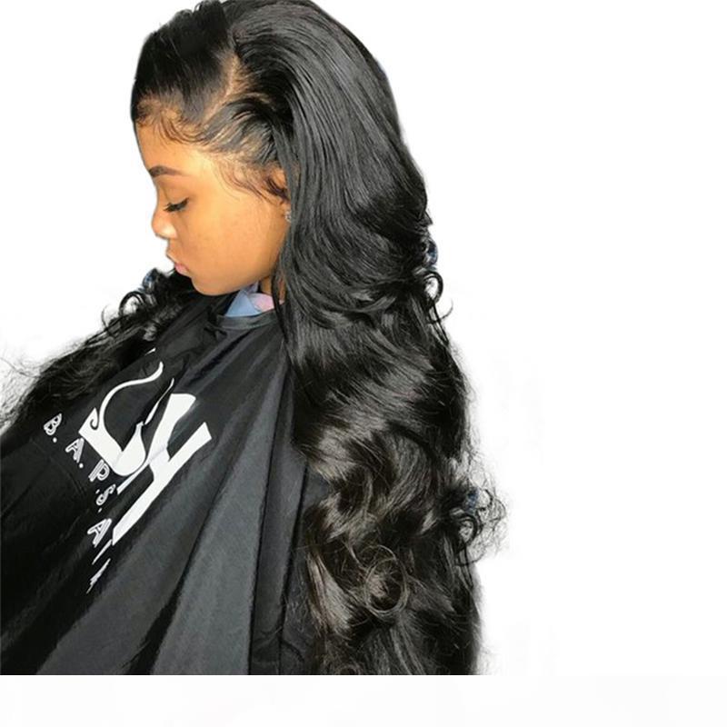 Lace Front perruques de cheveux humains pour les femmes noires 250% Densité brésilienne Dentelle perruque avant de dentelle de vague de corps perruques avant plumé avec des cheveux de bébé