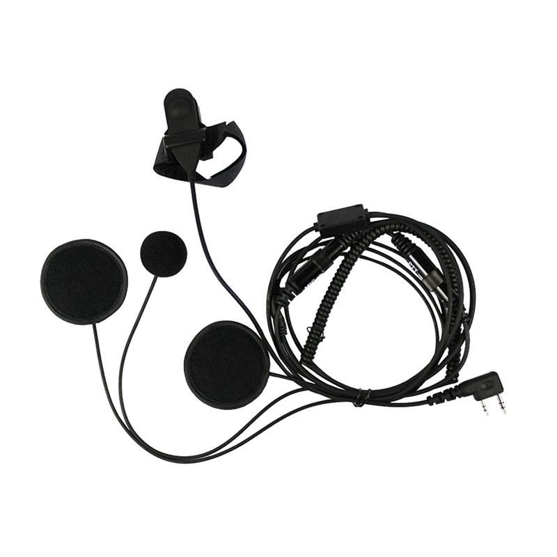 A+Full Face Moto Motorcycle Bike Helmet Earpiece Headset Mic Microphone For Two Way Radio TK3173/TK3200 BAOFENG UV-5R