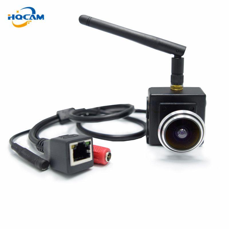 HQCAM 2.0Megapixel wifi ip camera 1.78mm Fisheye Lens H-264 1080P Wireless Indoor Smallest Wifi Ip Network 180 degree fish eyes