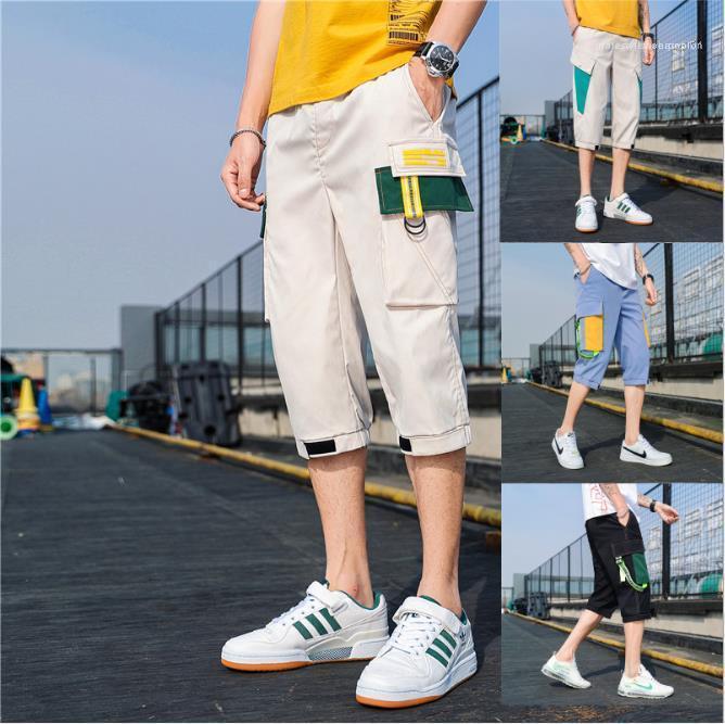 Одежда мужская 2020 Luxury Дизайнерские Короткие штаны Сыпучие Мульти карманный Casual Sport Грузовой брюк летний мужчина