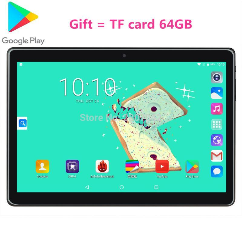 Tablet PC Google 10 Inch Quad Core 2G RAM 32GB ROM+TF 64G 3G Android 9.0 Tempered Tablets Dual Sim WiFi GPS 10.1GPS