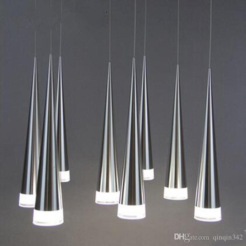 cgjxs 2019 Modern Led cónico Pendant Light Metal de alumínio Início / industrial Iluminação Pendure Lamp Dining / Living Room Bar Cafe Droplight Fixtu