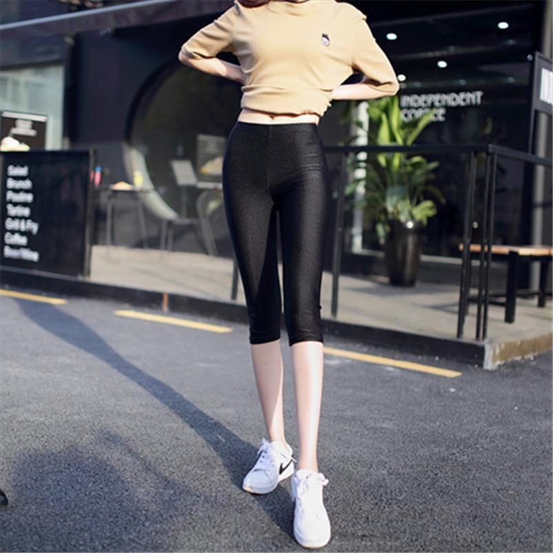 Womens leggings de poliéster preto neon leggings senhoras spandex cintura alta leggings stretch magro spandex mulheres Drop Shipping