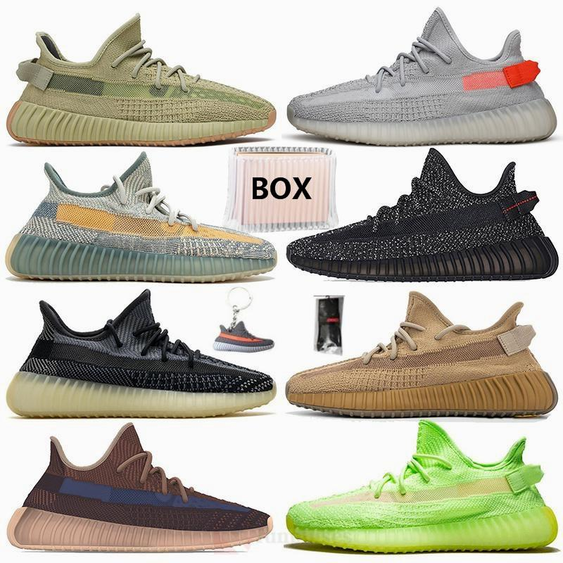 With Box Size 36-48 Tail Light Sulfur Yecher Cinder Earth Abez Asriel Israfil Eliada Kanye West Running Shoes Mens Trainers Women Sneakers