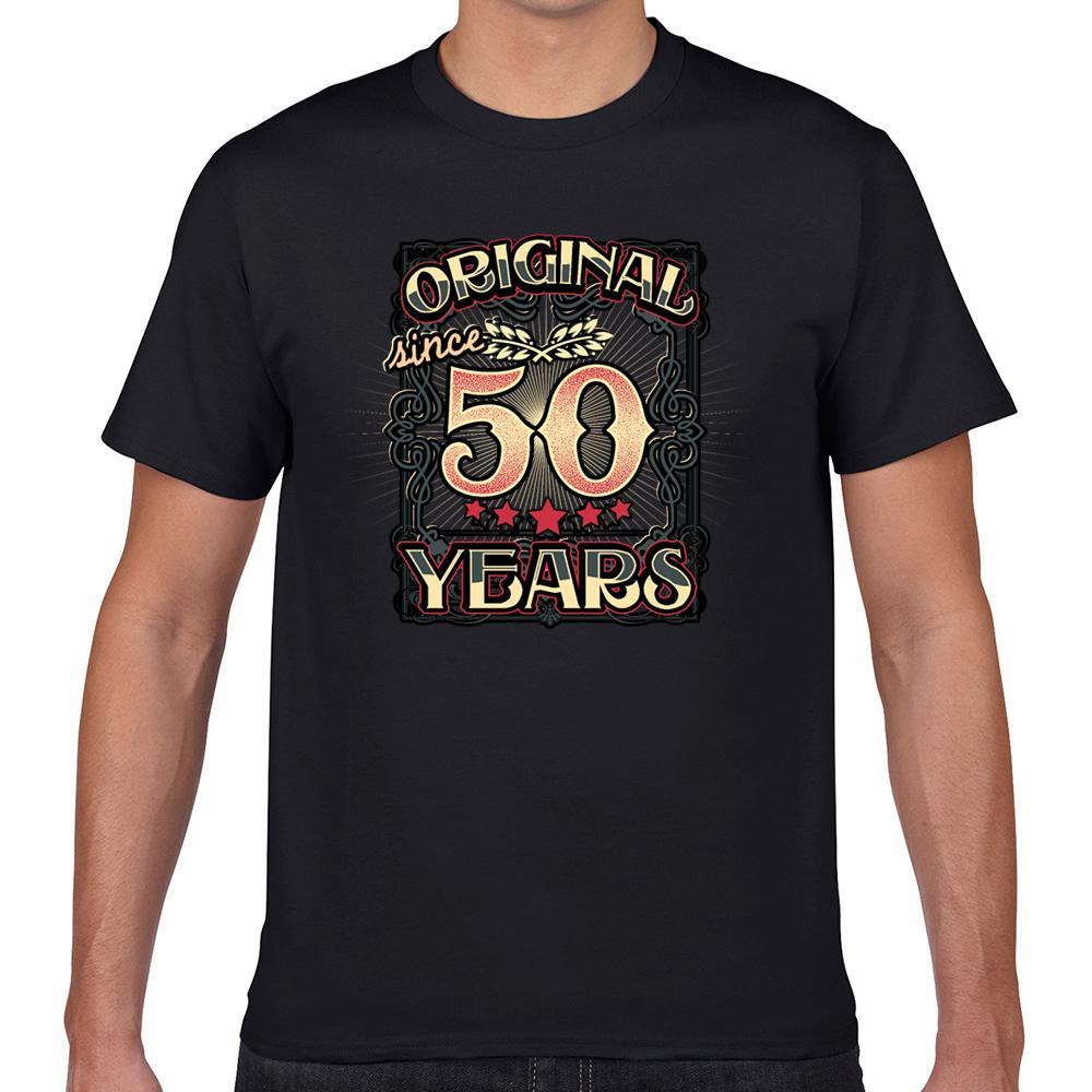 Tops camiseta de los hombres originales desde hace 50 años súper básico Negro Geek algodón masculino camiseta XXXL