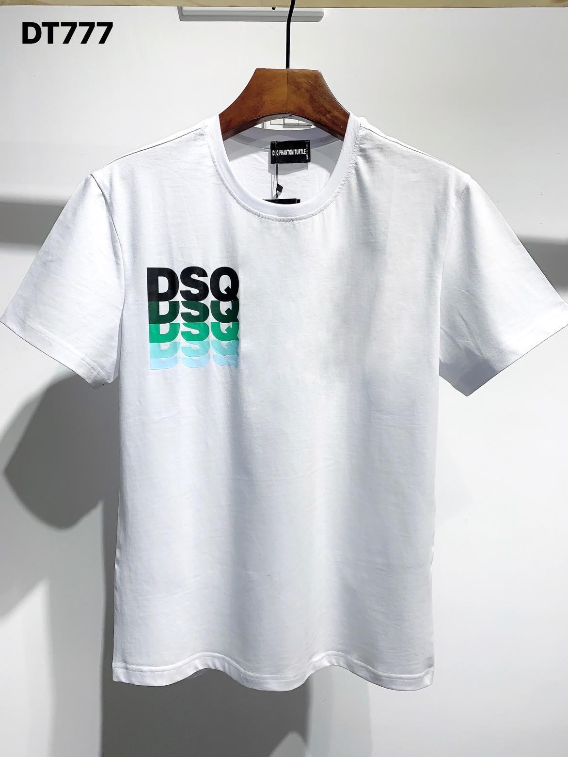 DSQ Phantom Turtle 2020ss New Mens Designer T-shirt Italie T-shirts Été Hommes DSQ T-shirt Homme Top Qualité 100% coton Top 3989