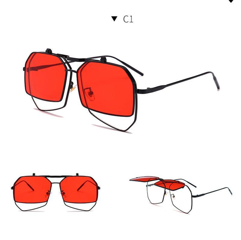 Fashion Yellow Glasses Glasses Women's Women Red 2020 Sun Girls Vintage Square Womens Sunglasses Unique Shades Hbobi