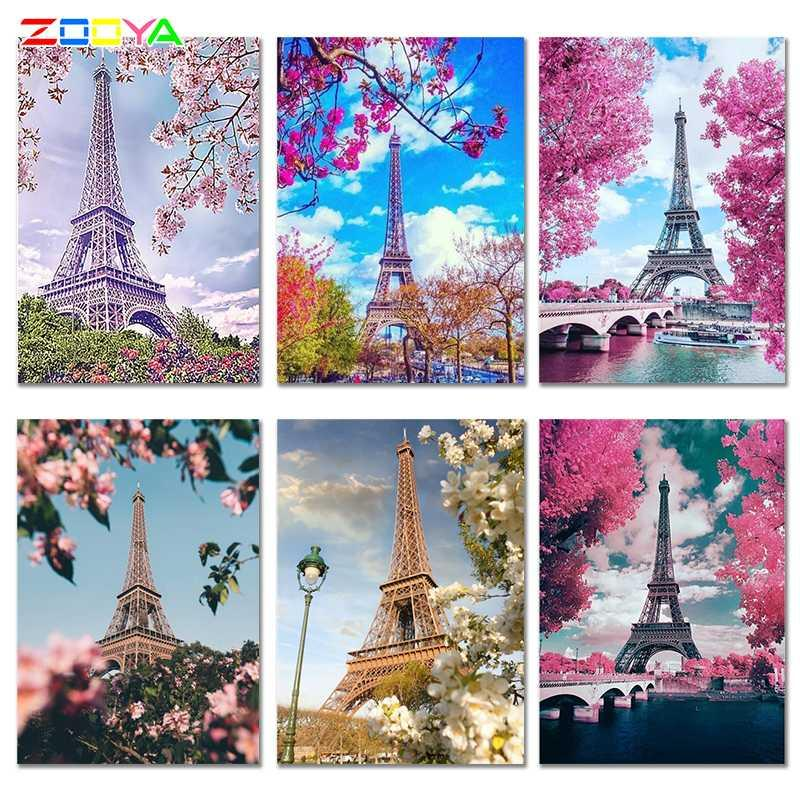 5D Diamond Embroidery Eiffel Tower Decorations Painting Full Drill Beautiful Diamond Painting Eiffeltoren Mosaic 6Jh39