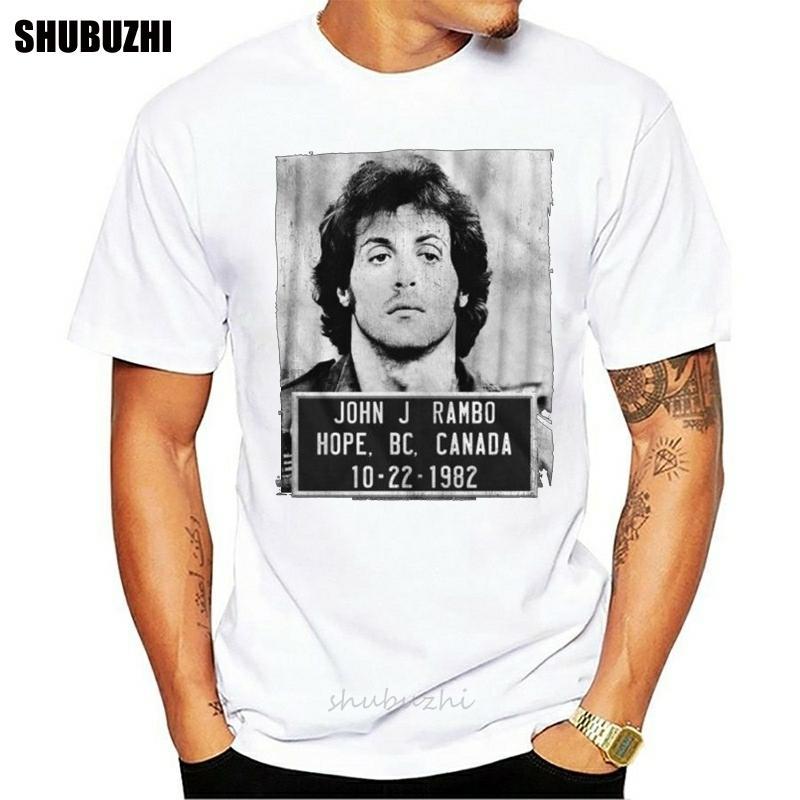 İlk Kan John J Kupa Erkekler S-3XL erkek marka teeshirt erkekler yaz pamuklu t shirt için 1982/10/22 Yetişkin T-Shirt Shot