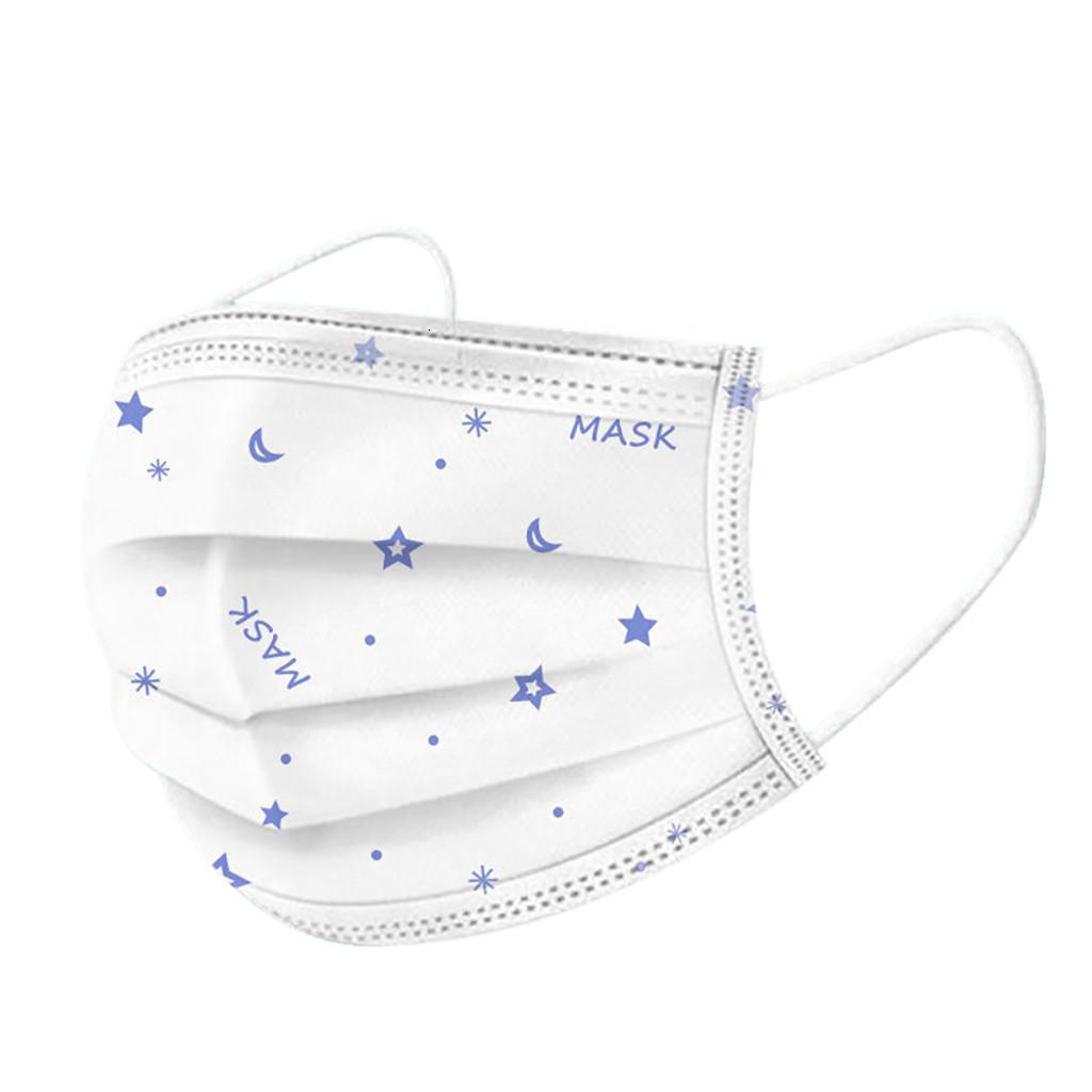 el envío, el envío 50 paquetes de soplado en fusión de tres capas de protección desechable transpirable a prueba de polvo máscaras ZWH0