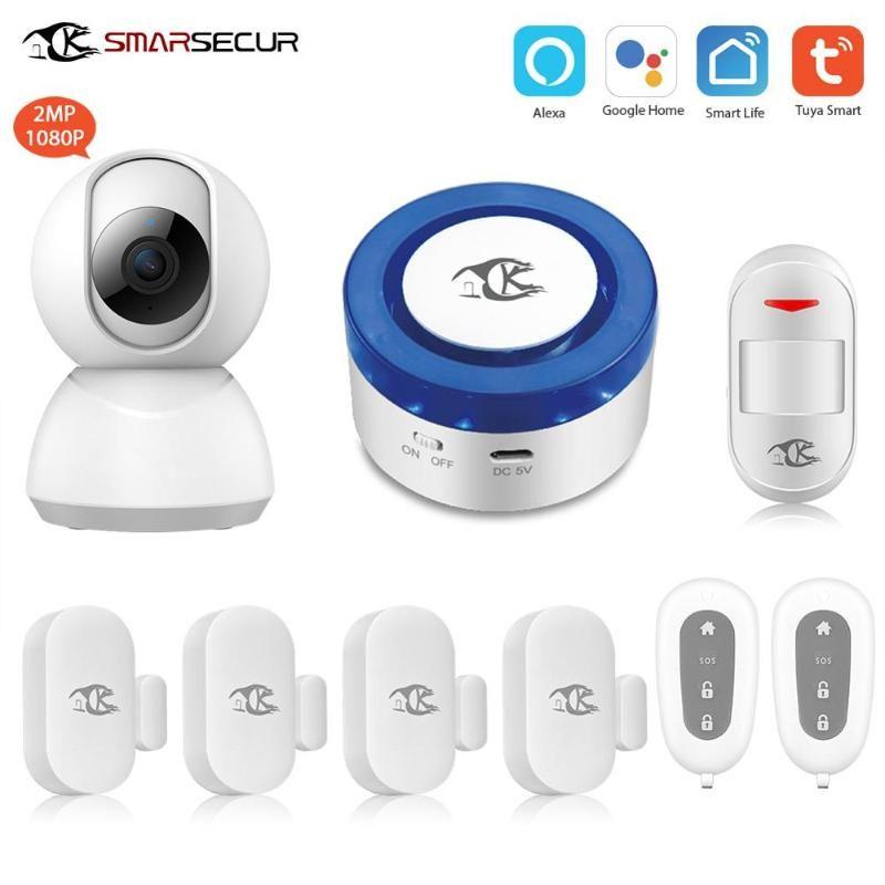 Alarm Sistemleri Kablosuz Wifi Mini Siren Akıllı Hayat App Alexa Kamera ile Uyumlu