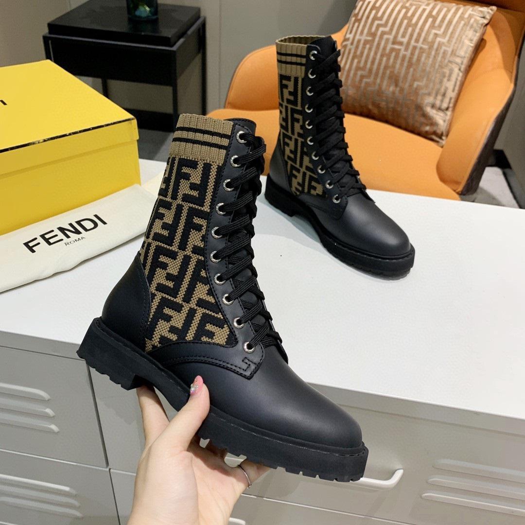 bottes de motard en cuir noir chaussures de marque de luxe Rockoko bottes de combat avec des inserts en tissu extensible