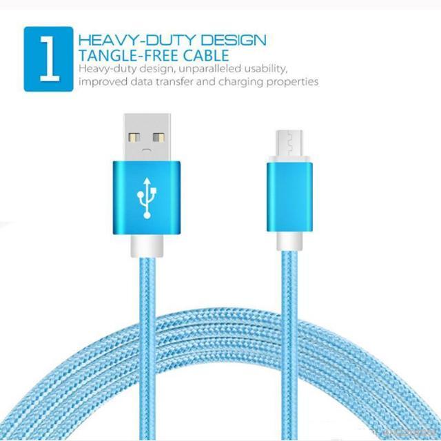 Haute vitesse Premium Route Nylon Tressé Micro USB de charge Chargeur Câble USB 3FT TYPE C données Sync câble chargeur pour téléphone portable Android Cord