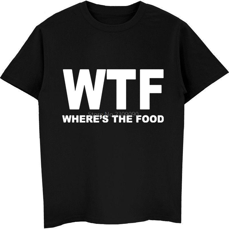 Nuovo WTF Dove è la camicia cibo T uomini delle parti superiori del cotone di modo manica corta divertente Hip Hop T-shirt T Harajuku Streetwear fitness