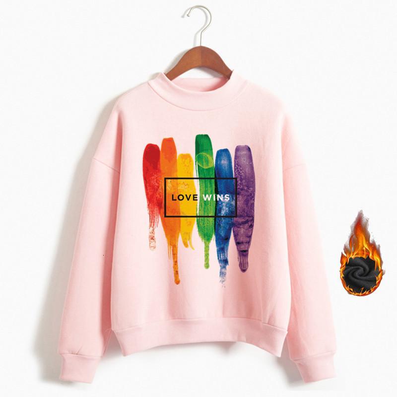 Donne Orgoglio Lgbt Amore Win Felpe Felpe Femminile Harajuku Love Is Love cappuccio Ragazze Gay Lesbian Arcobaleno Abbigliamento