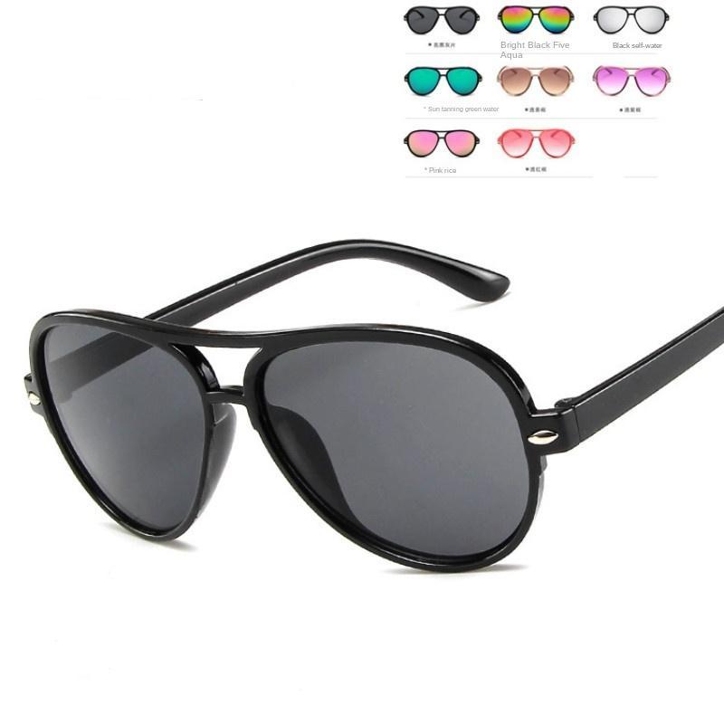 Bebê decorativo óculos cor doces tgaod lente óculos de sol óculos de sol moda moda moda crianças óculos de sol 400 uv espelho colorido gerj