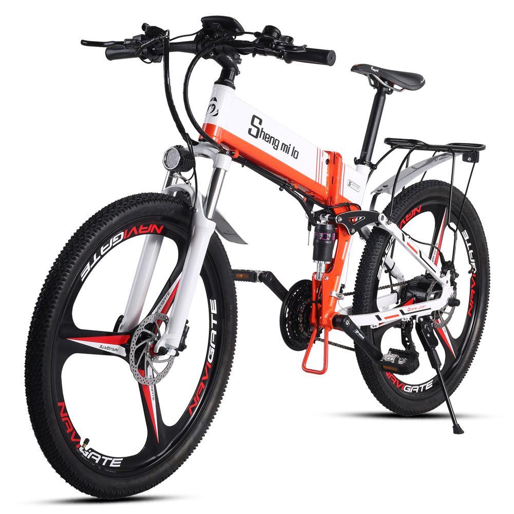 Resmi Ürün ShengMilo M80 26-inch Elektrikli Bisiklet Katlanır Dağ Bisikleti 48 V Lityum Pil Bisiklet Güç Bisiklet Alüminyum Alaşım Jant