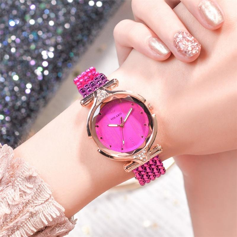 New Fashion Ladies Watch Simples Analógico Quartz Plastic Strap Ladies Watch Moda Casual Relógios Para Mujer Y40