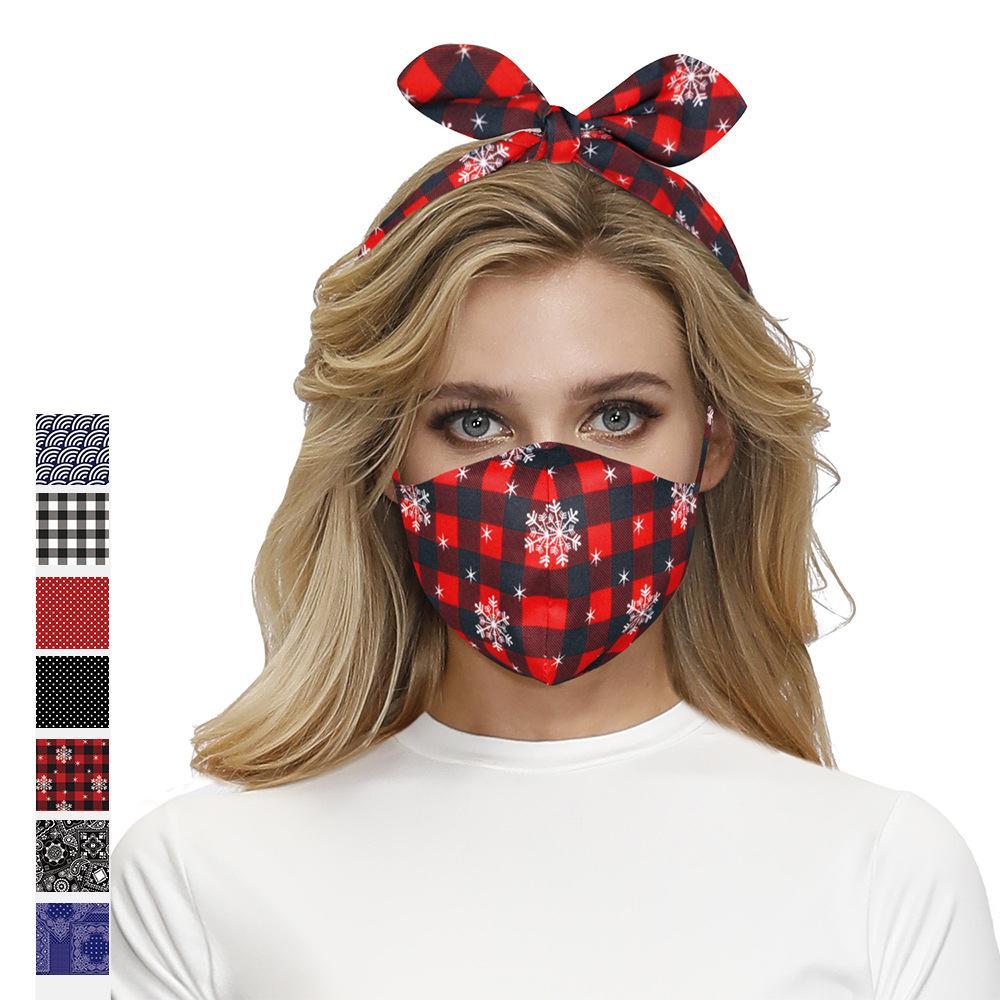 2'de 1 Maske Saç Bandı Kadınlar Çok fonksiyonlu Koruyucu Yüz Maskeleri Moda Kafa Lady Kız Saç Aksesuarları DHL HHD1462 için