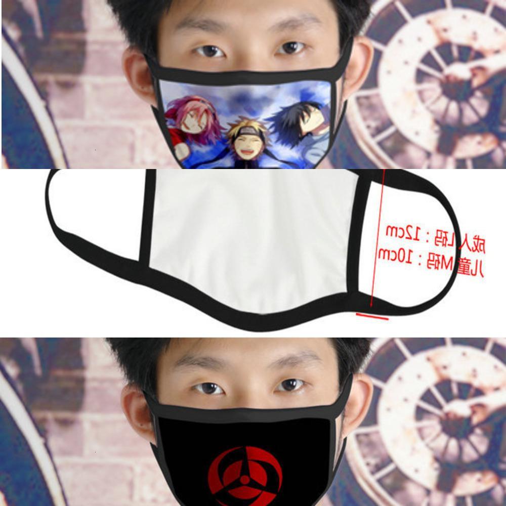 SM9R Tapabocas Cubrebocas Tasarımcı Yeniden kullanılabilir İçin Kız Karikatür Yüz 05 Naruto Ao LMKdO bbshome 4 Maske