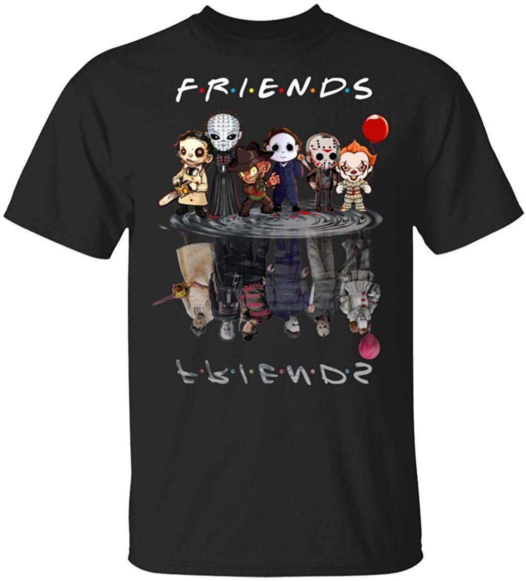 Друзья Halloween Отражение Майкл Пенни Freddy Джейсон T Shirt Мужчины Женщины Фитнес Плюс Размер футболочку