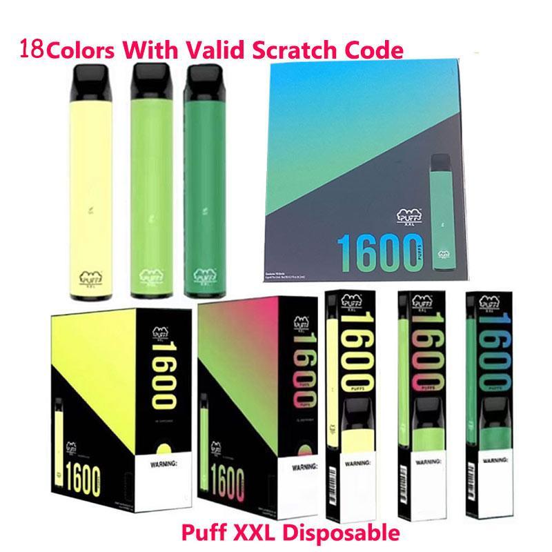 Puff XXL à usage unique avec code Scratch valide Vape Pen périphérique kits de démarrage Vider dispositif à usage unique Kits Puff Bar débit Xtra plus