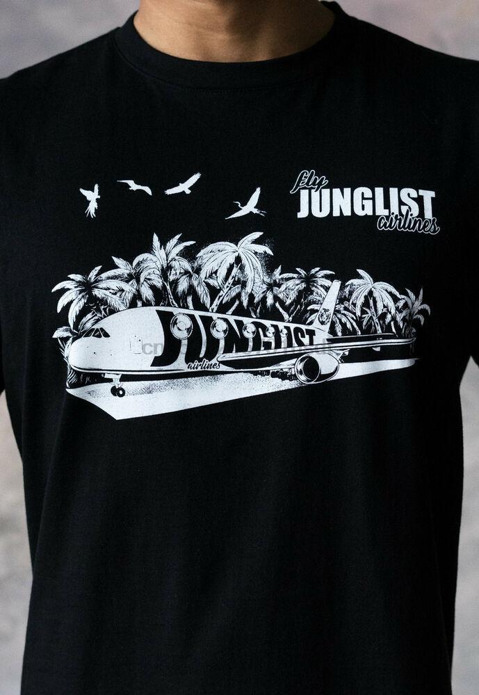 Junglist aerolíneas camiseta del tambor baja de DJ del Neurofunk Jungle Massive Amén camiseta para hombre