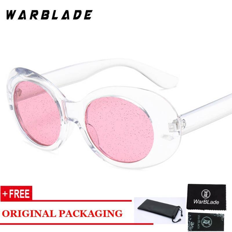 2020 Fashion New Oval Sonnenbrille für Frau Transparent Herrliche Granulated Objektiv Top-Qualität Sonnenbrillen für Männer Frauen Rosa