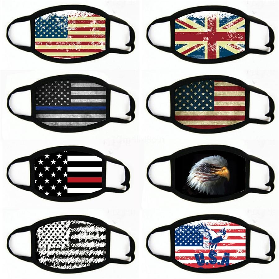 2020 Mask American Election Supplies Printing US Flag Masks Dust-Proof Washable Mask Cover Cycling Protective Mouth Masks#307