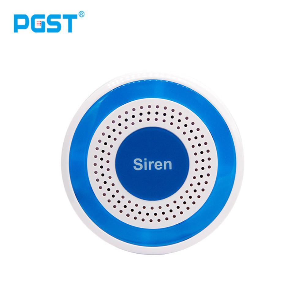 433mhz Wireless Sound and Light Siren 100dB Standalone Strobe Siren Home Security Sound Alarm System Surveillance Siren Alarm