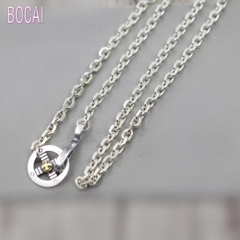 925 nouveaux accessoires de mode en argent sterling plumes crochet aigle collier corne hommes collier en argent Thaïlandais