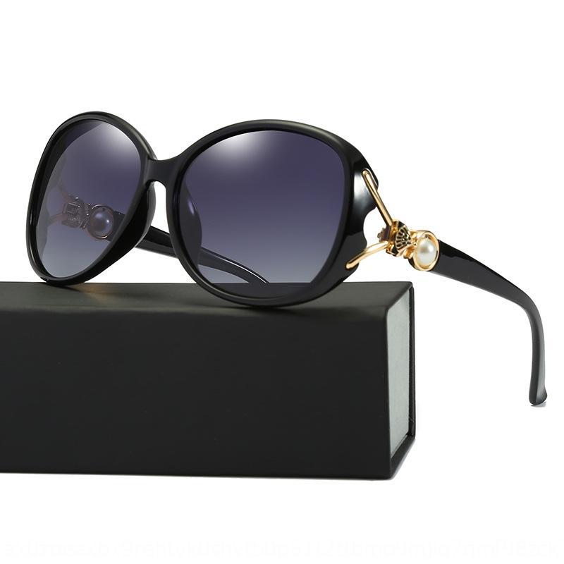 HNohR Yeni moda tilki kafası polarize güneş 8843 Trendy güneş gözlüğü İnci polarize güneş kişiselleştirilmiş tüm maç güneş gözlüğü
