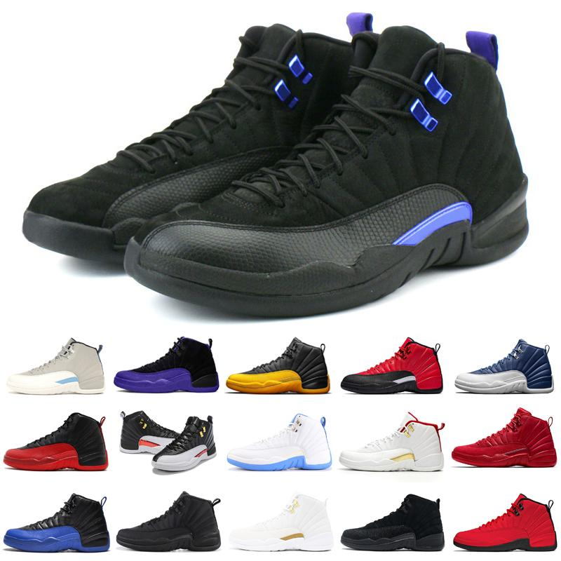 جديد 12 12 ثانية رجل كرة السلة الأحذية الحجر الأزرق العكسي الأنفلونزا gam الظلام كونكورد رمادي عكس الرجال أحذية رياضية مدرب الرياضة
