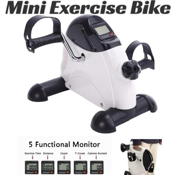 Portable Mini упражнения велосипед педаль для ног и оружия с ЖК-дисплеем домашнего офиса тренажерный зал