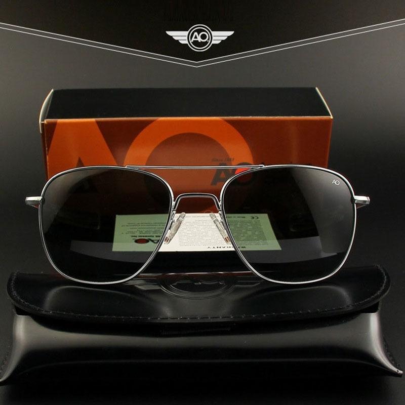 Ao Sun Glasses Männer Pilot Marken-Designer-amerikanische Armee-Militärglasobjektiv Herren Sonnenbrillen Op55 Op57 Top-Qualität Ch01