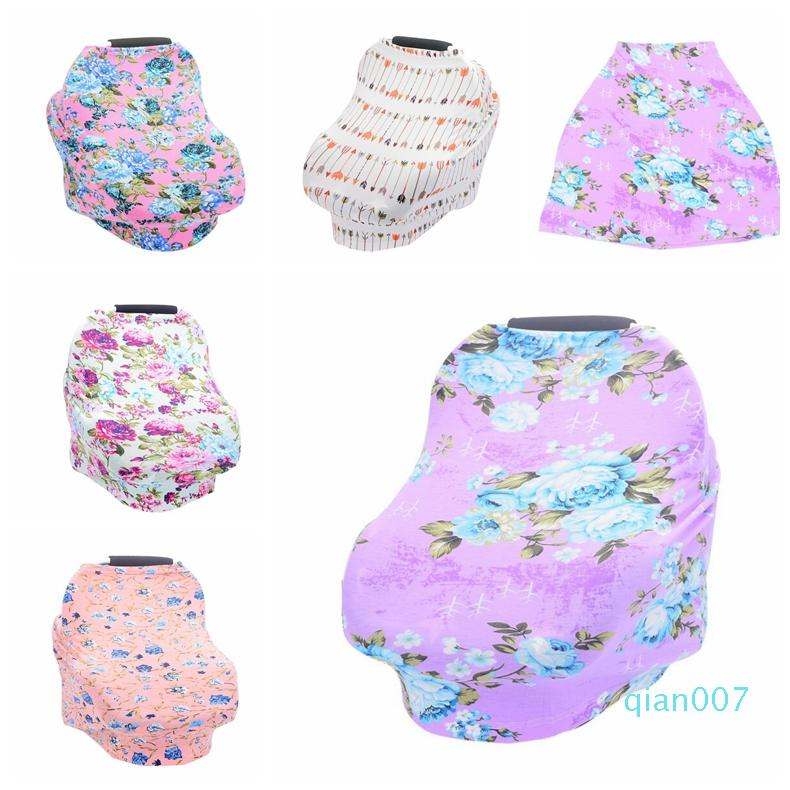 Baby Stretchy Nursing Breastfeeding Cover Multi Use Carseat Canopy Stroller Privacy Apron Outdoors Feeding Baby Nursing Cloth blanket DHD197