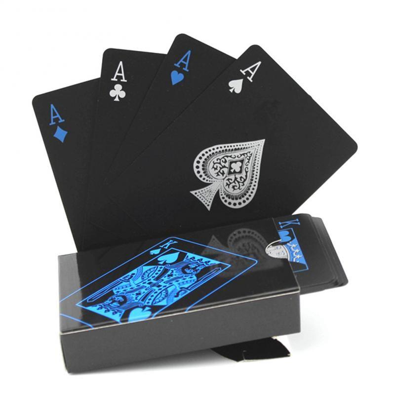 Las tarjetas del póker Nueva Transparente jugar al póquer de PVC Prueba Tarjetas de cristal de plástico de agua a prueba de agua juego Wareable Ware Resistan