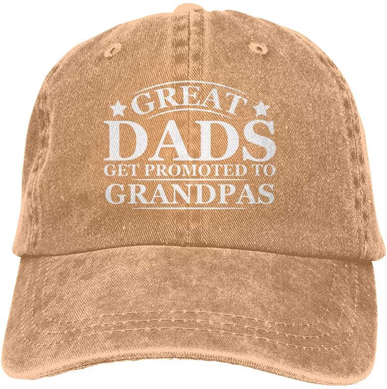 Grandi Dads ottenere una promozione per Grandpas Pops unisex morbida Casquette Cap d'epoca berretti da baseball registrabili