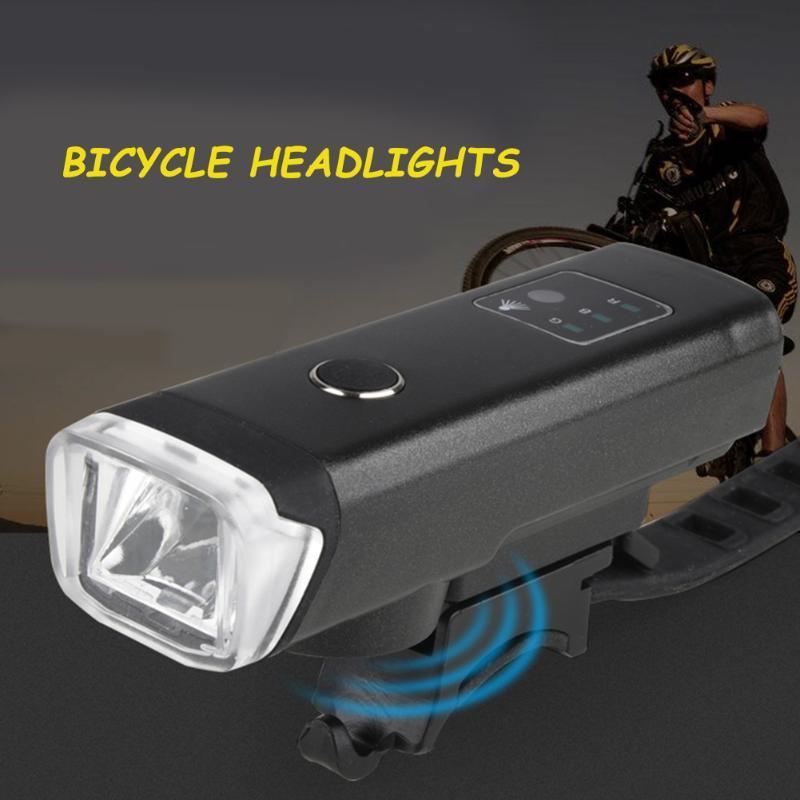 USB قابلة للشحن الدراجة LED المصابيح الأمامية للماء دراجات ركوب تحذير الجبهة مصباح للتجهيزات دورة في الهواء الطلق