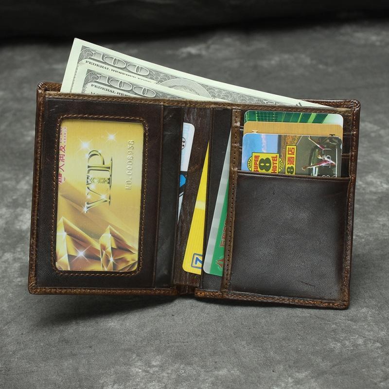 JYnuR Einfache Wachs Leder Männer und Frauen aus echtem Leder dreidimensionale Tigermuster Brieftasche 2-fach obere Schicht Rindledermappe