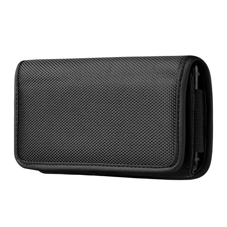 Universale clip della cinghia della cassa del telefono di iPhone di Samsung Huawei Xiaomi sacchetto di stoffa lanci la copertura con clip da cintura