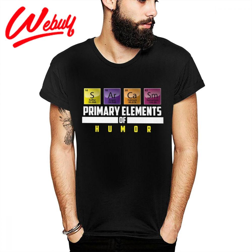 Tabela Periódica de moda T Shirt S Ar Ca Sm principais elementos de Humor de algodão macio T-shirt feito sob encomenda original New Big Size Camiseta