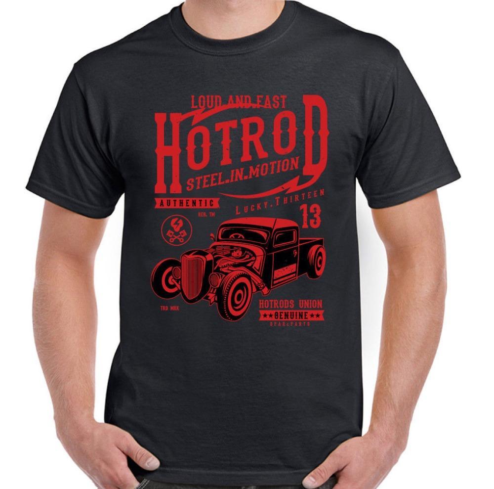 aço hotrod em movimento mens t-shirt 13 carro clássico americano entusiasta 2020 nova impressão marca de moda homem camisa 3d t o-pescoço sorte