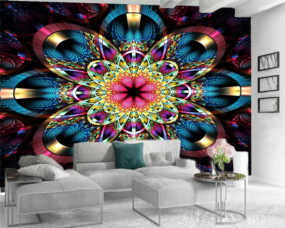 paredes de papel pintado 3D moderna decoración del hogar del papel pintado de alta gama coloridas flores grandes romántica flor de seda decorativo 3d Papel pintado mural