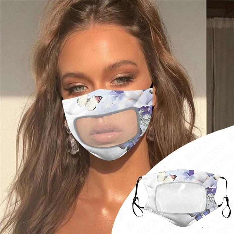 Adulto respirável Algodão Moda Verão Fina Mulheres face transparente Máscara Dustproof Ma Protective